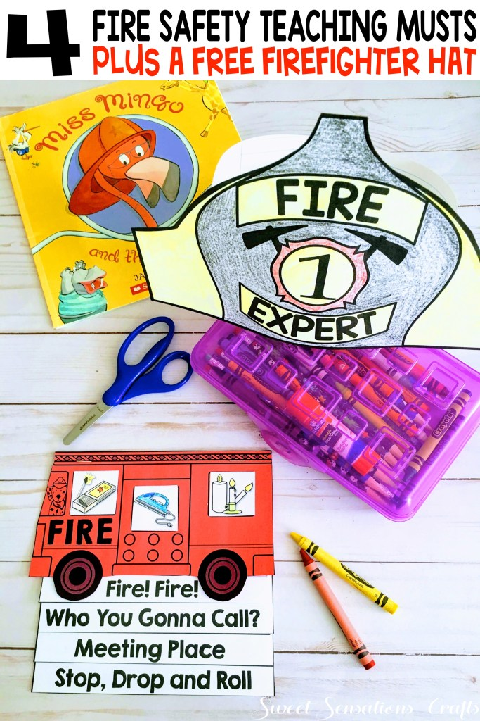 How do you teach fire safety and prevention month?  These essential talking points the most important things you must cover.  Click to learn more and to download a free firefighter helmet!