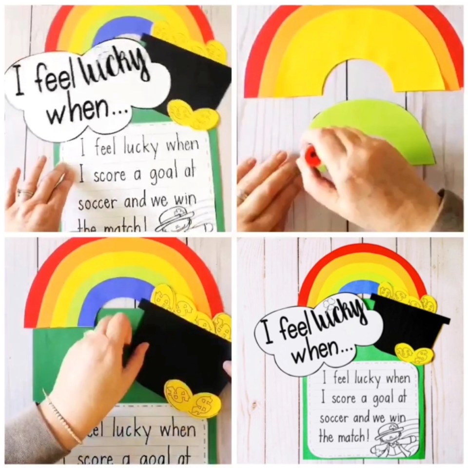 St. Patrick's Day rainbow craft activity