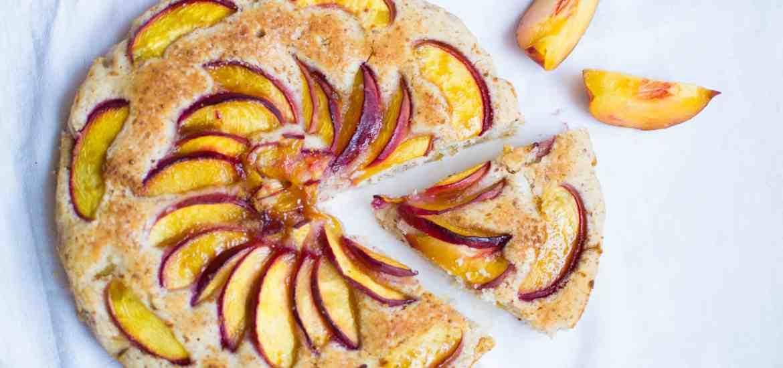 Gluten free vegan peach cake