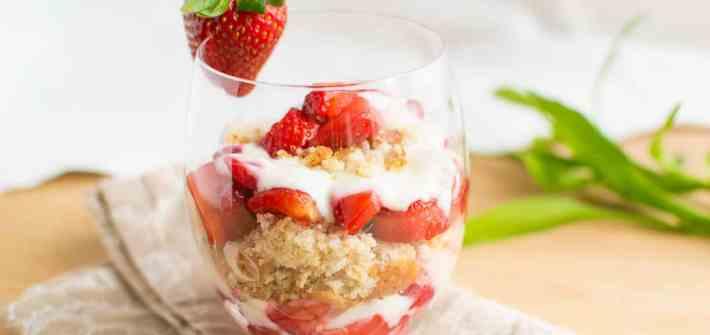 Gluten free strawberry lemon dessert senza glutine limone