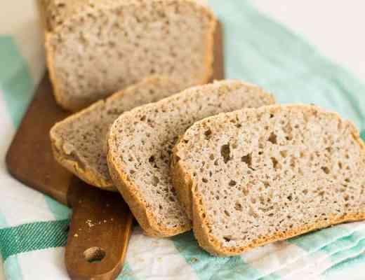 Gluten free buckwheat bread pane grano saraceno