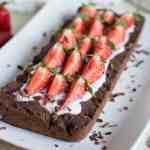 Easy gluten free vegan strawberry chocolate tart - Crostata senza glutine cioccolato fragole