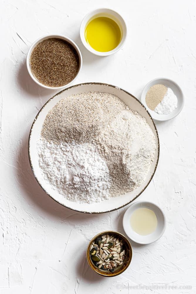 ingredienti per pane senza glutine al grano saraceno farine naturali
