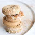 Gluten free vegan apple cinnamon baked donuts