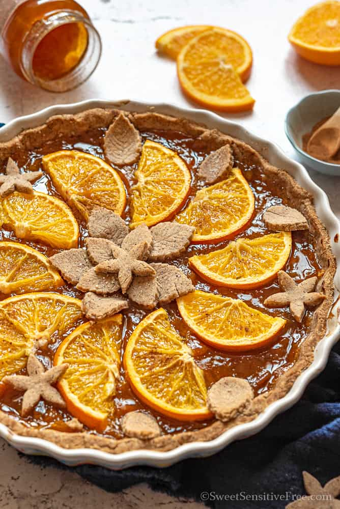 gluten free vegan gingerbread cookie dough tart