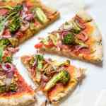 Easy and quick gluten free pizza crust without yeast