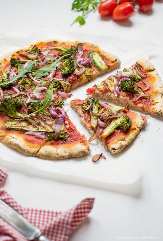 Vegan Gluten free Yeast free Pizza Crust Recipe