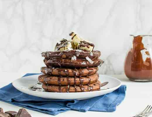 Pancakes Cocco Cioccolato Senza glutine Vegan Senza lattosio Senza uova