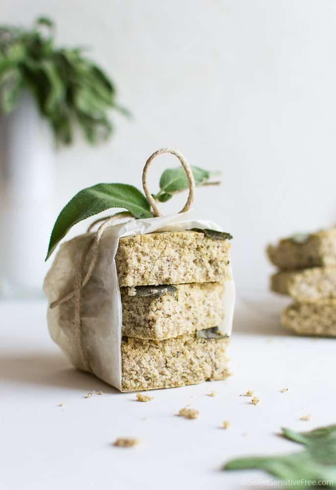 gluten free vegan focaccia bread with sage