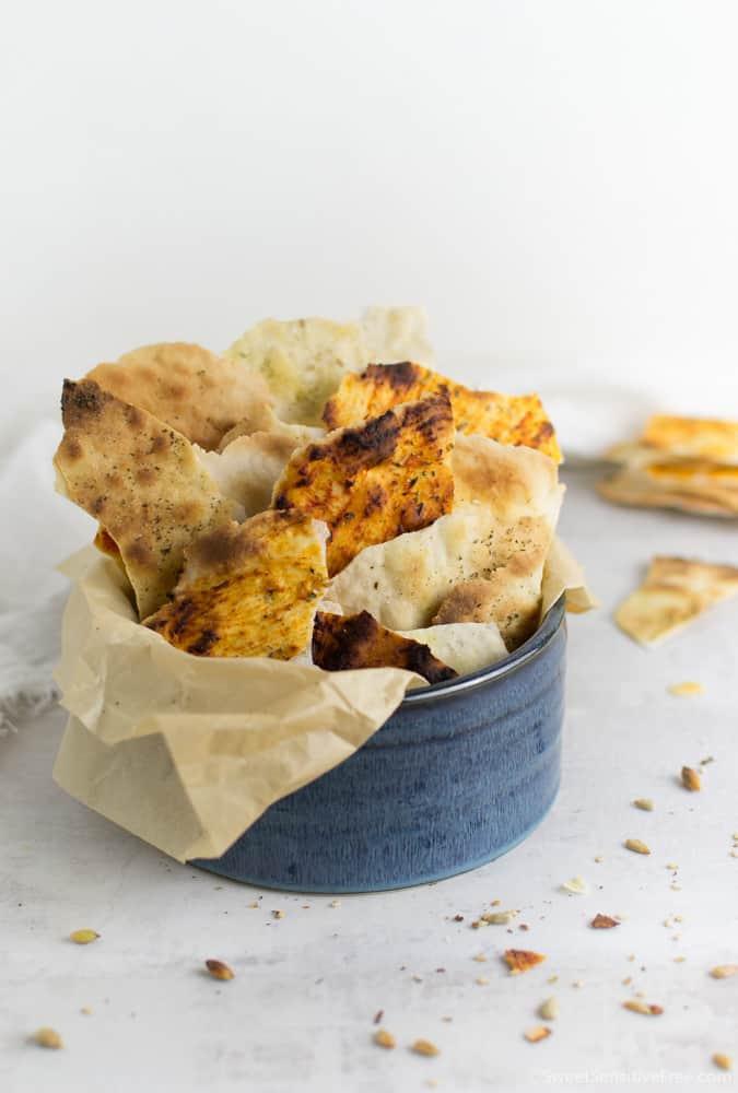crunchy gluten free flatbread