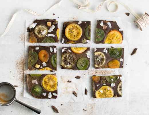 christmas vegan chocolate bark