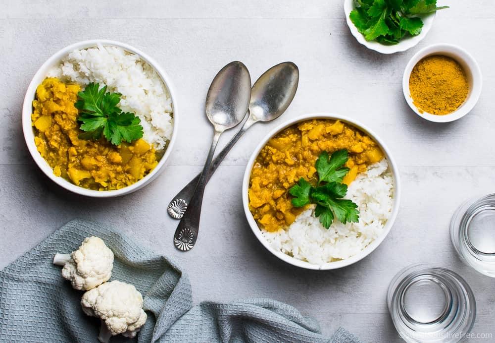 curry di verdure senza glutine senza cocco