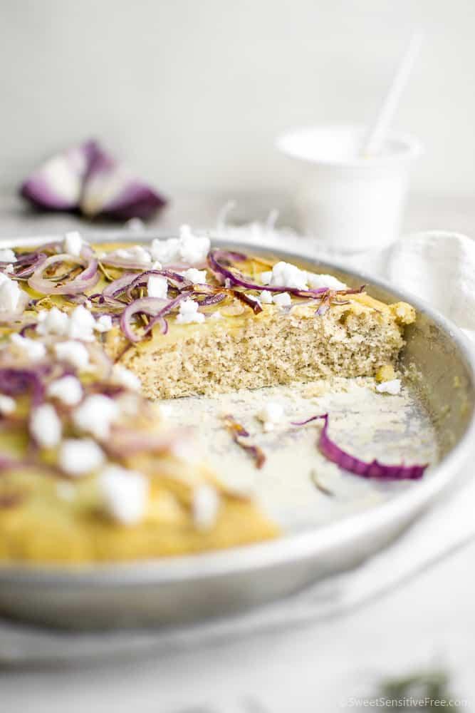Focaccia soffice senza glutine senza lievito