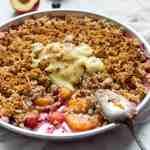 gluten free vegan peach crumble