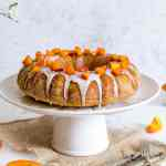 Vegan gluten free cake with soy yogurt and apricots