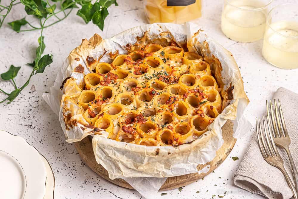 gluten free pasta pie