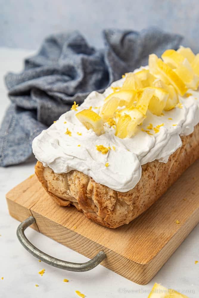 Plumcake al limone senza glutine e lattosio