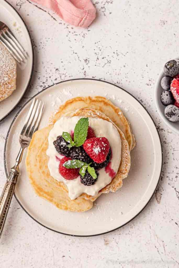 servings of gluten free dairy free egg free pancakes