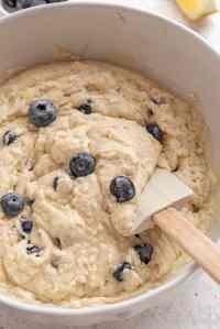 impasto per muffins ai mirtilli