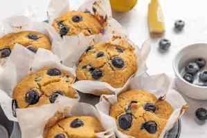 homemade gluten free vegan blueberry muffins