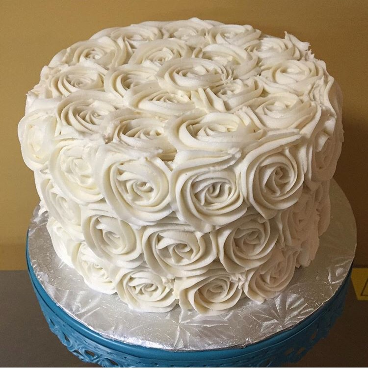 Mini Rose Cake Buttercream Icing Topper Cake Wedding Cake