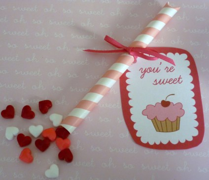 Valentine's Day Candy Straws