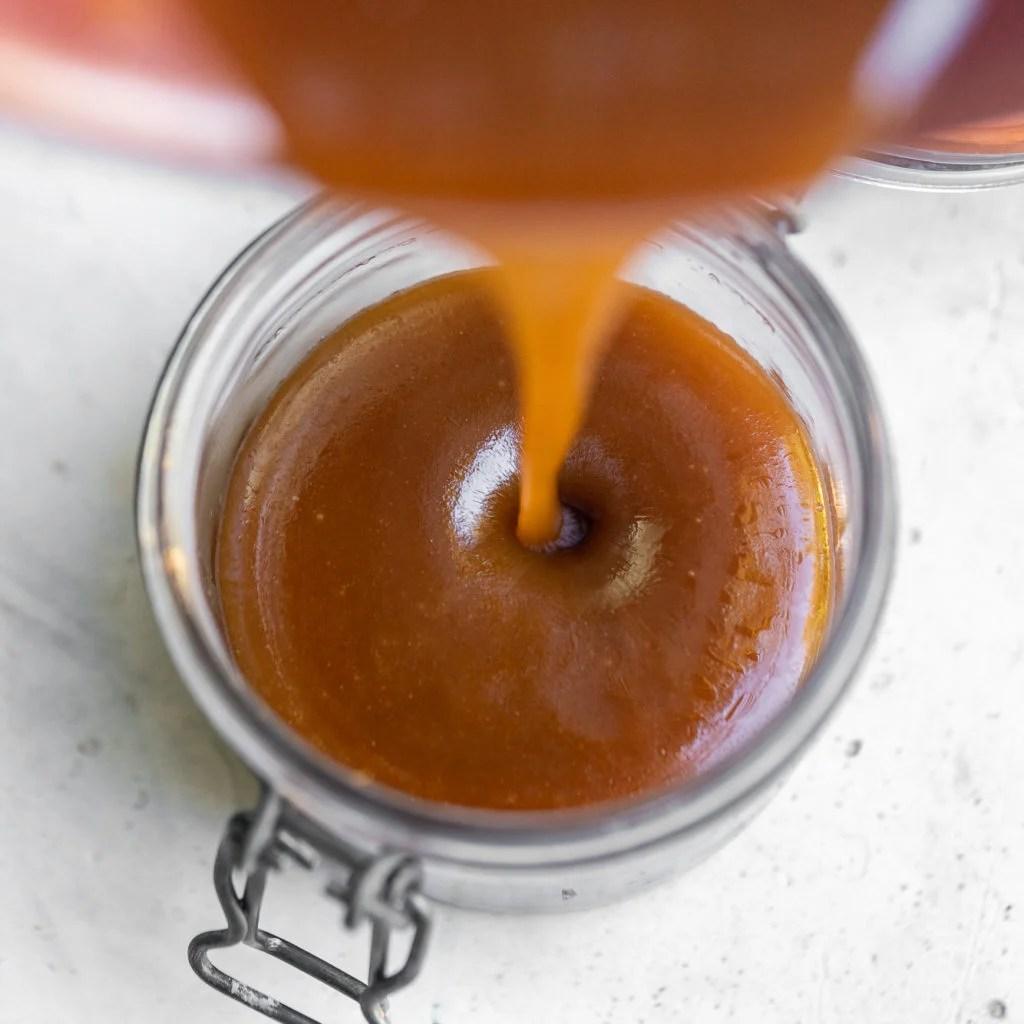 homemade vegan caramel