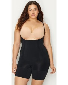 SPANX plus size on-core firm control bodysuit with an open bust for separate bra, best Spanx for tummy control, number one best body shaper for large stomach