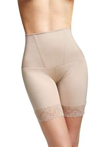 Squeem women's alluring mid thigh short, best shapewear for thighs, hips and muffin top, best muffin top shapewear