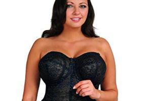 Goddess Women's Lace Bustier Brassiere, best full figure strapless bra