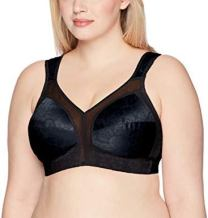 Playtex Plus Size Comfort Strap Brassiere for Women, best no underwire bra for large breasts, best wireless bras for big busts
