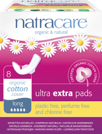 Natracare Ultra Extra Winged Pads, best postpartum pads for sensitive skin
