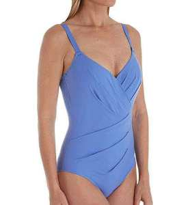Empreinte Body Underwire Asymmetrical Convertible one piece swimwear, top in the best swimsuit to hide tummy bulge