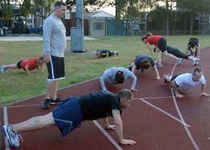 fitness participants taking High Intensity Interval Training (HIIT) sessions