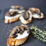 Portobello & Mushroom Crostini