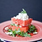 Watermelon, feta, and balsamic vinegar