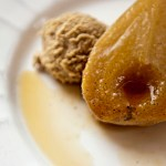 Roasted Vanilla Pears with Espresso Marscapone Cream