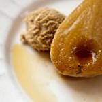 Roasted Vanilla Pears with Espresso Marscapone Cream