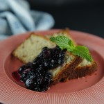 Hazelnut Lemon Cake with Roasted Blueberries
