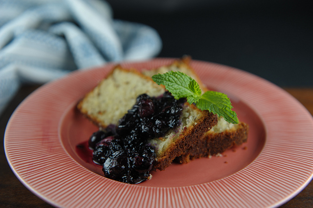 Hazelnut lemon bread & roasted blueberries // sweetsonian
