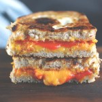 toad-in-a-hole sriracha grilled cheese