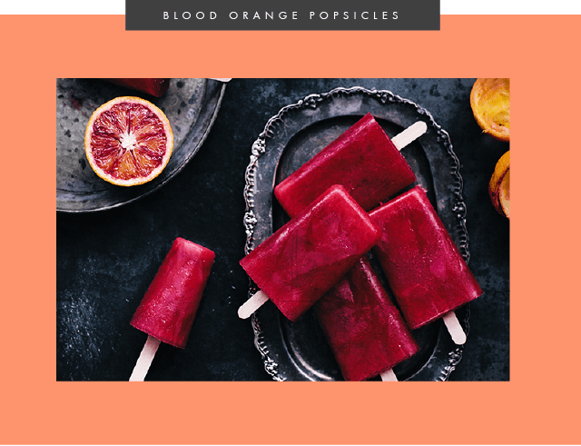 blood orange popsicles // sweetsonian