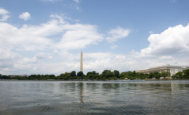 the view from the paddle boats, tidal basin, washington, dc // sweetsonian