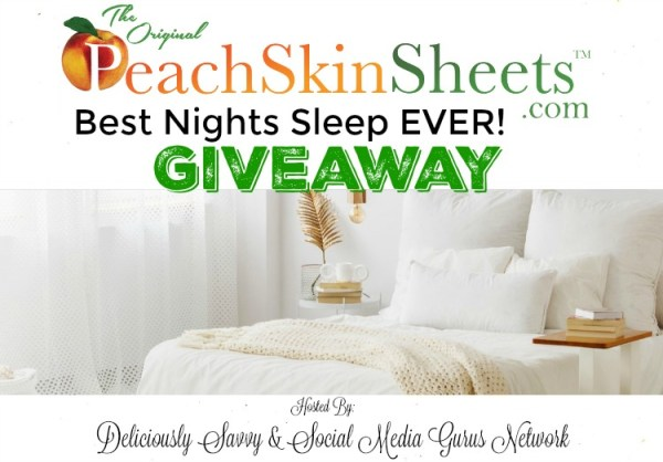 You can #WIN a Set of Original PeachSkinSheets in Any Size and Color when this #BTS Gift Guide #Giveaway ends 8/31. #PeachSkinSheets #Contest #BackToSchool