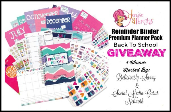 You can #WIN a Reminder Binder Premium Planner when this #BTS Gift Guide #Giveaway ends 8/21. #Contest #BackToSchool