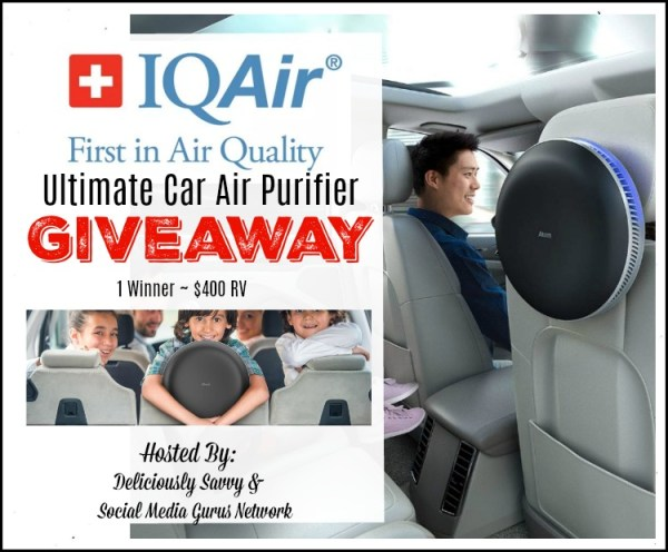 Enter and you could #WIN an IQAir Ultimate Car Air Purifier when this Gift Guide #Giveaway ends 10/24.