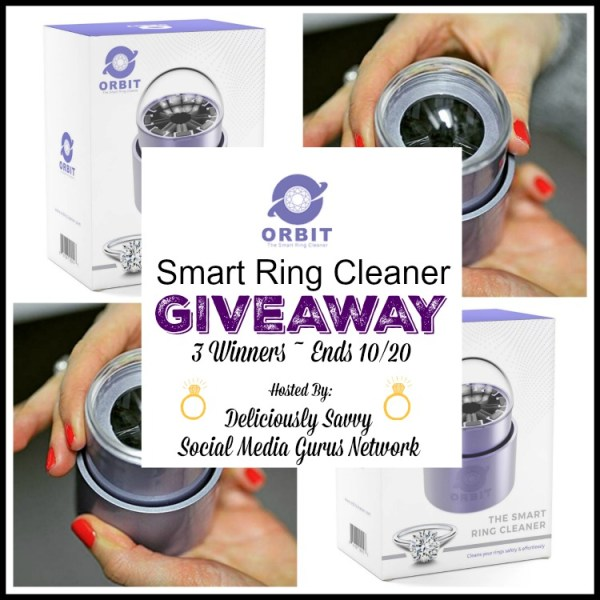 Enter and you could be 1 of 3 who will #WIN ORBIT ~ The Smart Ring Cleaner when this #SMGN Gift Guide #Giveaway ends 10/20