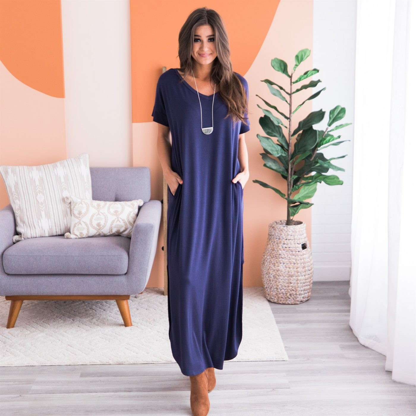 Was $52.99 - Now $21.99 - Short Sleeve Maxi w/Pockets | Free Shipping (10/16 to 10/18)