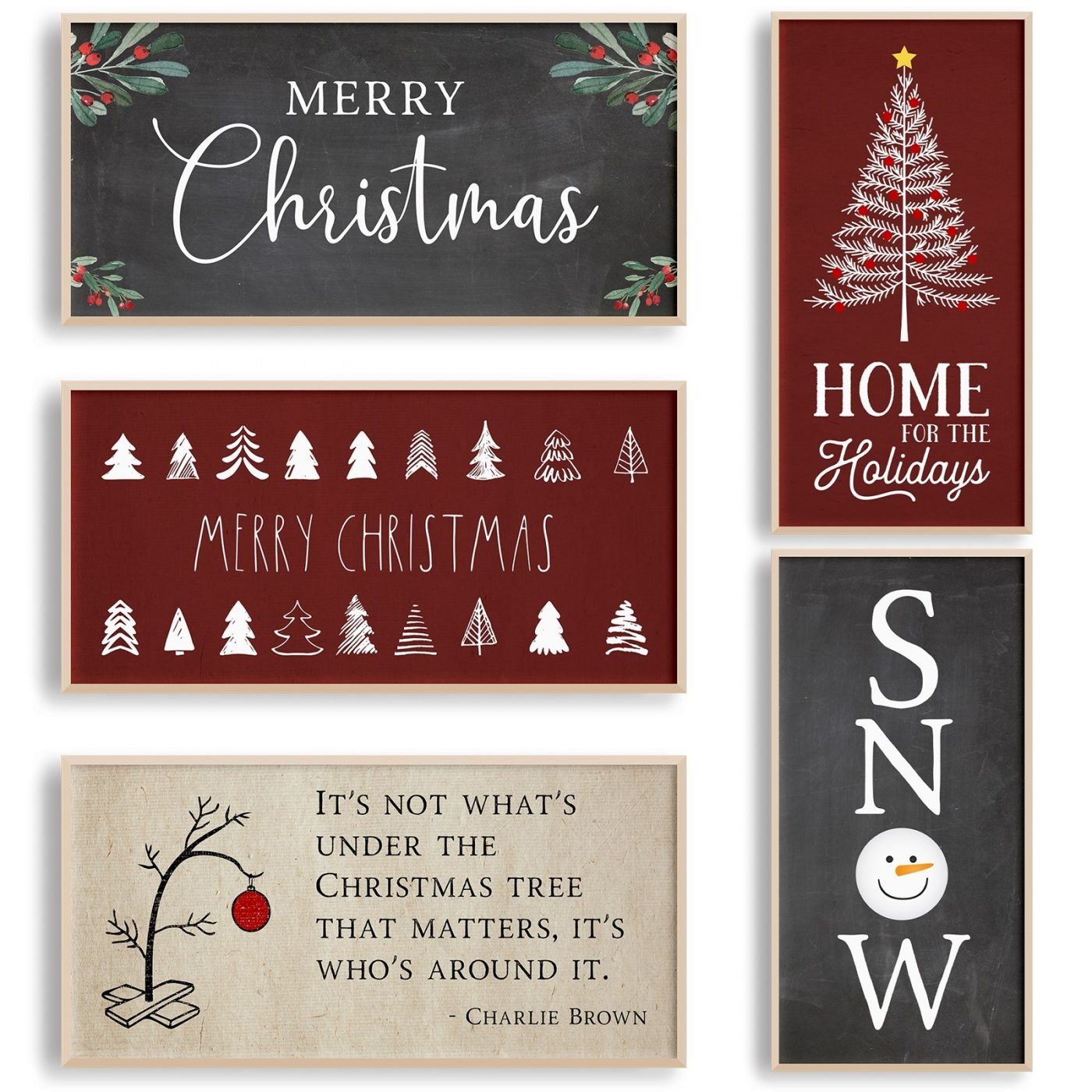 Was $39.99 - Now $14.99 - Large Christmas Sign Posters | Free Shipping (10/15 to 10/17)