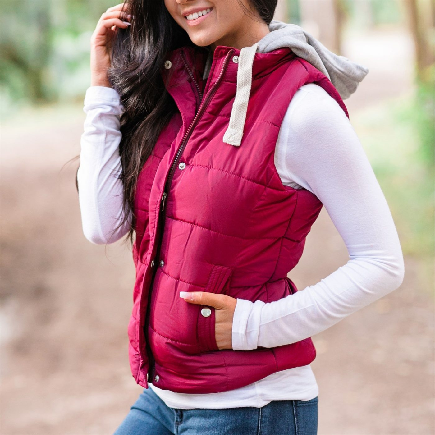 Was $54.99 - Now $26.99 - Quilted Padded Hooded Vest   Free Shipping (10/15 to 10/17)
